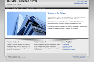 Builder Essence Silver Theme