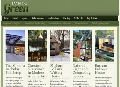 Ionic Green Theme