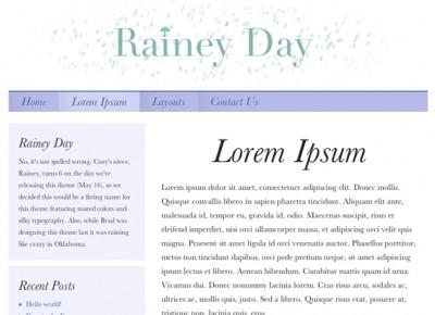 Rainey Day Theme