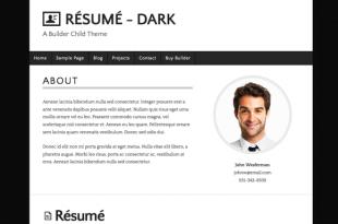 Resume Dark Theme