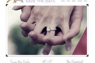 Save the date wedding theme