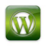 WordPress Logo Green and White