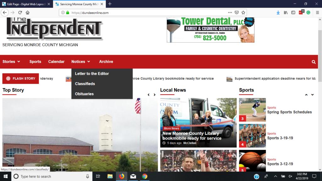 Dundee Online Website