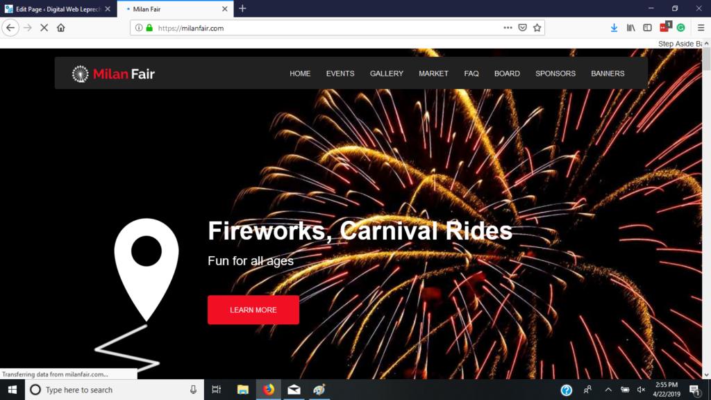 Milan Fair Website
