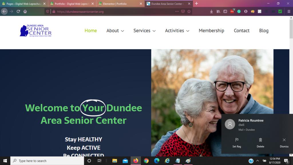dundee area senior center